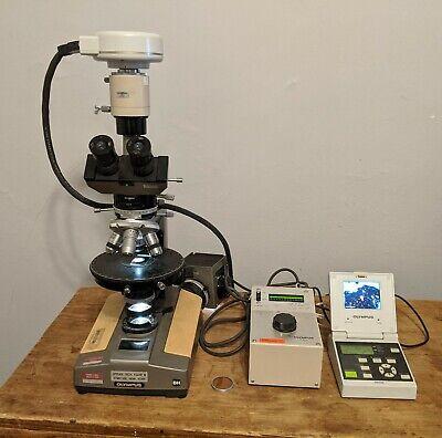 Olympus Bh1 Polarizing Microscope With Olympus Dp10 Digital Camera