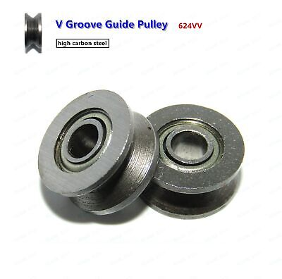 624vv V Groove Sealed Ball Bearings Roller V Groove Guide Pulley 4136mm 10pcs