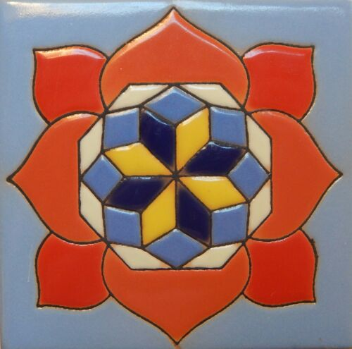 Mexican Tiles High Relief Ceramic Cuerda Seca Malibu Santa Barbara Tiles CS-26