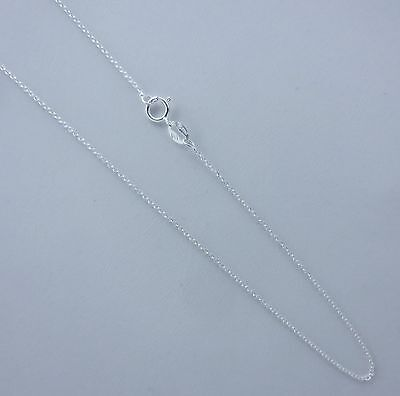 1mm Thin Rolo Chain. Pure 925 Italian Sterling Silver 14,16,18,20,22,24 Inch - Thin Rolo Chain