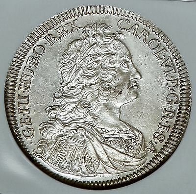 Click now to see the BUY IT NOW Price! AUSTRIA HALL 1736 CHARLES VI SILVER THALER NGC MS62