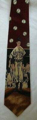 NORMAN ROCKWELL SATURDAY EVENING POST CHICAGO CUBS SILK -