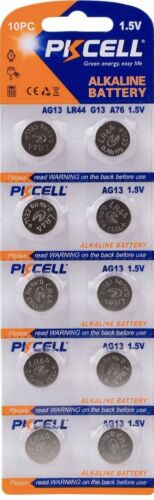 LR44 PKCELL AG13 (10 piece) LR44 PKCELL A76 L1154 AG13 357 New Alkaline Battery