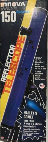 STEVEN 150 POWER REFLECTING TELESCOPE VINTAGE 1985 IN BOX