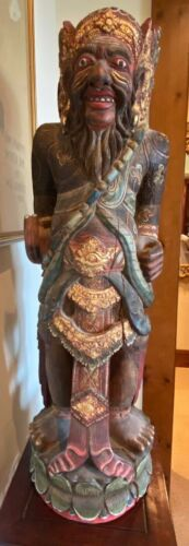 Antique Early - Mid 20th Century Ornate Indonesian Statue