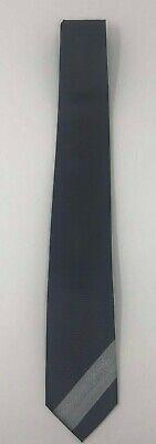 "VERSACE Men's 100% Silk Necktie ITALY Luxury Geo Gray Tie EUC 3"" W x 61"" L"