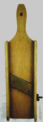 Vintage Primitive Wood Slicer Cheese Cabbage Slaw Kraut Shredder Handle for sale  Berkeley
