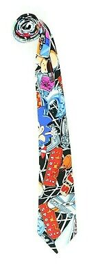 VTG 1994 Nicole Miller Sega Sonic the Hedgehog Boys Youth Neck Tie 100% Silk