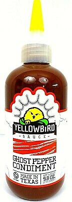 Yellow Bird Ghost Pepper Condiment / Hot Sauce, 278 g (9,8 OZ)
