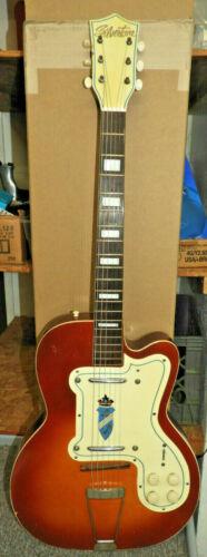 Silvertone Thin Twin Electric Guitar Hollowbody vtg 50
