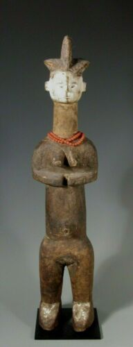 RARE African Nigeria Igbo Wood Power Figure Sculpture Ex, Jeff Hunter Collection