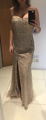 100% auth Sherri Hill Gold Prom/special ocasion dress size 8/10 - Special Ocasion Dresses