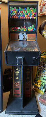 Rare Racing Bouncy Ball Vending Machine Vintage Full Size Stand Up Man Cave!