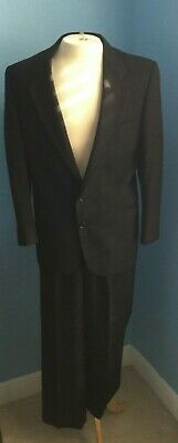 Bloomingdales The Men's Store Black Suit 40R Jacket 33/29 Pants FREE SHIPPING