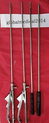 Laparoscopic Curved Needle Holder -2 Knot Pusher 2 Addler
