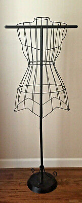 Female Steel Wire Mannequin Dress Form On Decorative Stand