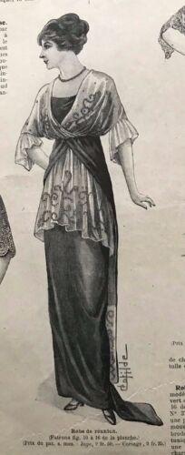 MODE ILLUSTREE September 21,1913+sewing pattern - Visiting dress