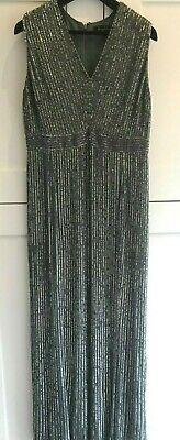 Jenny Packham green silk full length dress with full beading