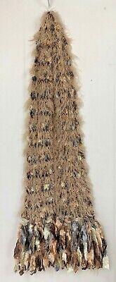 Lorenzo Italy Womens Scarf Fringe Wool Blend Boa Beige Gray Boho Fuzzy Wrap](Fuzzy Boa)