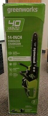 Brand New Sealed in Box GreenWorks 40V 14 inch Cordless Chainsaw