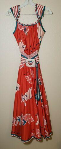 Vintage 80s Jeanne Marc Dress Size P 4/6 Colorful