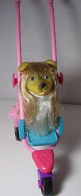 Mattel ~ Barbie Doll Pink ~ Puppy Stroller + Dog ~ Both Adorable