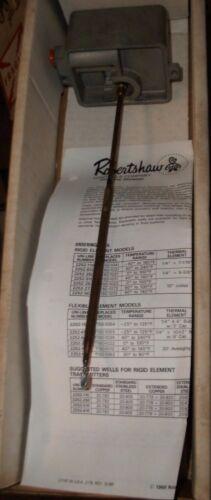"ROBERTSHAW 2252-250 T150-1021 TEMP TRANSMITTER 0-100 F ELEMENT 1/4"" X 9-1/4"""