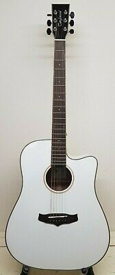 Tanglewood TW5WH Winterleaf Semi Acoustic Guitar in White Gloss - UK Dispatch