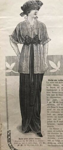 MODE ILLUSTREE July 27,1913+sewing pattern - Satin dress, Hunting costume...