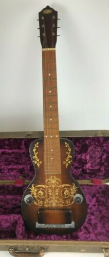 RARE Vintage 1938 Oahu Diana Deluxe Lap Steel with Original Hard Shell Case
