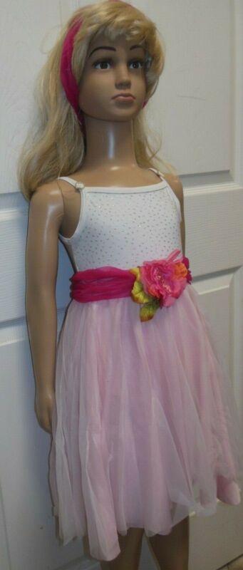 LYRICAL BALLET Dance COSTUME 2 layer skirt glittered bodice rhinestone slide