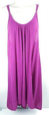 LOVE STITCH Womens Medium Magenta Pink Purple Trapeze Dress Medium Pink Apparel