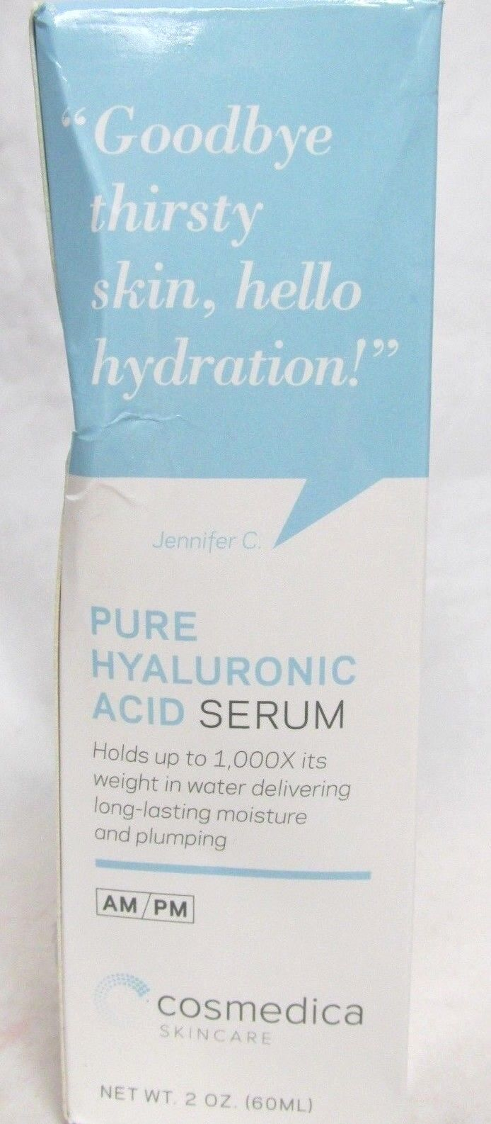 Hyaluronic Acid Serum for Skin-- 100% Pure-Highest Quality,