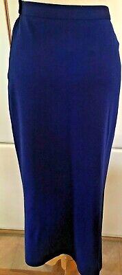Vintage Sonia Rykiel A-Line Women's Royal Blue Wool Skirt