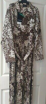 SELECTED FEMME - SLFZuri Brown Botanical Print Dress - Size 10