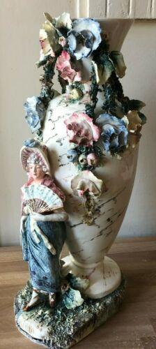 Lovely Large Art Nouveau Austrian Vase circa 1900 Royal Dux or Turn Teplitz
