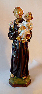 Saint Antonius Von Padua 22 cm Plastic Figure Statue S/19 with Jesus Child