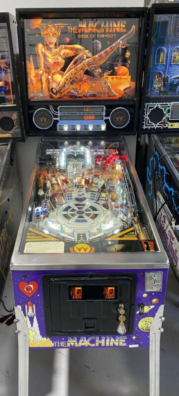 Bride of Pinbot Pinball Machine Williams Coin Op Arcade LEDS Free Shipping