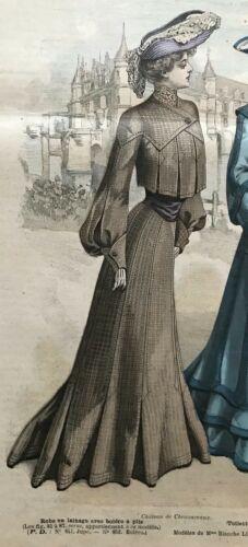 MODE ILLUSTREE SEWING PATTERN September 6,1903 - Victorian ladies &child dresses