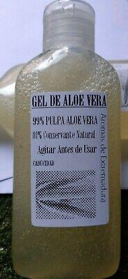 Gel Aloe Vera barbadensis,100% puro y natural,80 gr,aceite esencia:menta y argan