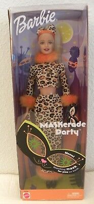 HALLOWEEN BARBIE MASKERADE PARTY CAT OUTFIT WITH MASK 2002 NRFB
