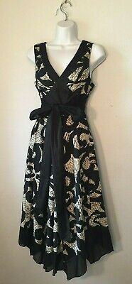 2) OC by Oleg Cassini Retro Empire Waist w/Sash Bow Avante Garde Dress Empire Waist Bow