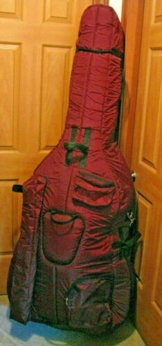 Bobelock 3/4 Upright String Double Bass Soft Bag- Red-Blue-Green-Tan