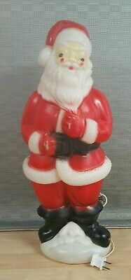 "Vintage 1973 Carolina Enterprises 23"" Blow Mold Lighted Santa Claus Christmas"