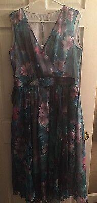 Hzy Stylewe Sleeveless Chiffon Green A Linev Neck Maxi Dress China 3Xl  Us Sz 1