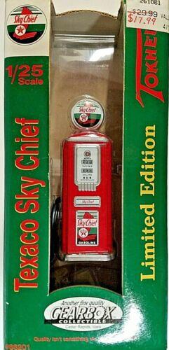1999 Texaco Sky Chief Tokheim 1950's Die Cast Toy Gas Pump Gearbox Collectible