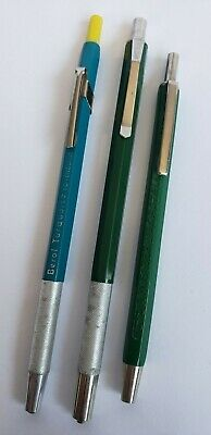 Vintage Mechanical Pencil Mixed Lot Of 3 Faber Castell Berol Turuoise Retro