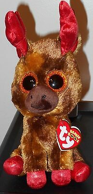 "Ty Beanie Boos - MAPLE the 6"" Canada Exclusive Moose ~ 2017 NEW ~ IN HAND (USA)"