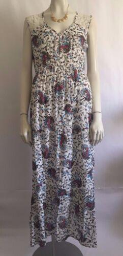World Market Womens Dress Maxi Floral Lace Paisley Flowy Boho Chic Size L/XL