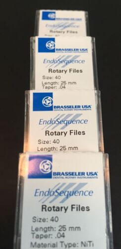 1 Pack of Brasseler Endosequence Rotary Files 40 Taper .04 25mm